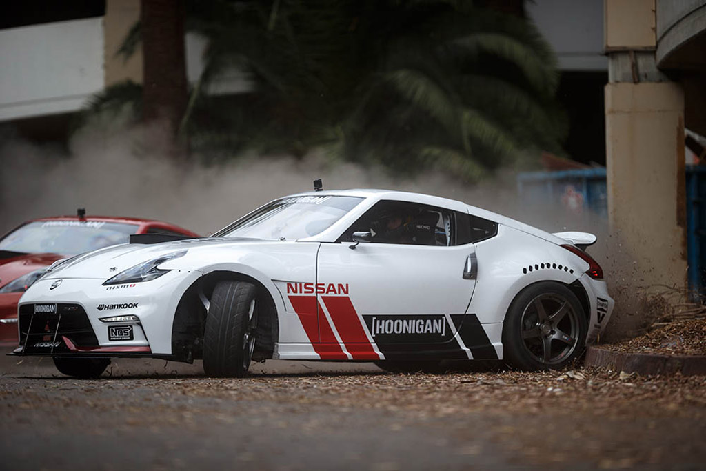 Nissan Z Drift Action At Abandoned Hawthorne Plaza Shopping Mall Image Via Hoonigan L on Used Nissan Z Convertibles For Sale