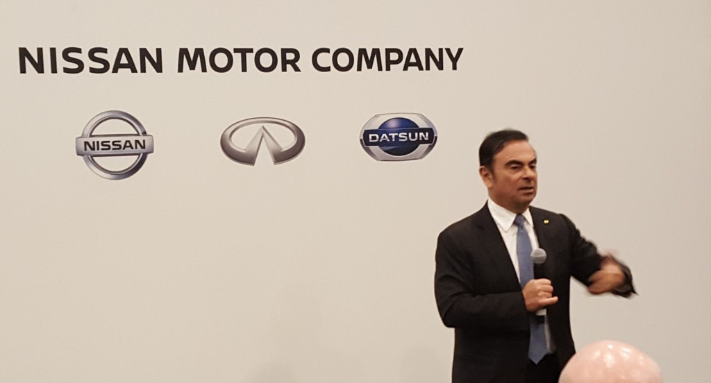 Nissan CEO Carlos Ghosn at 2016 New York Auto Show roundable discussion