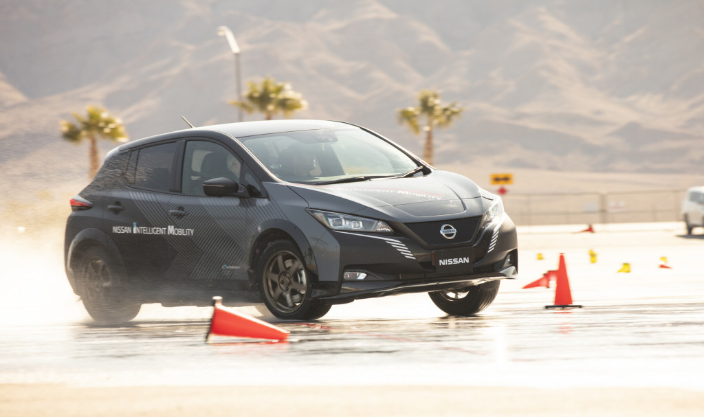 Prototype for Nissan e-4ORCE electric all-wheel-drive system