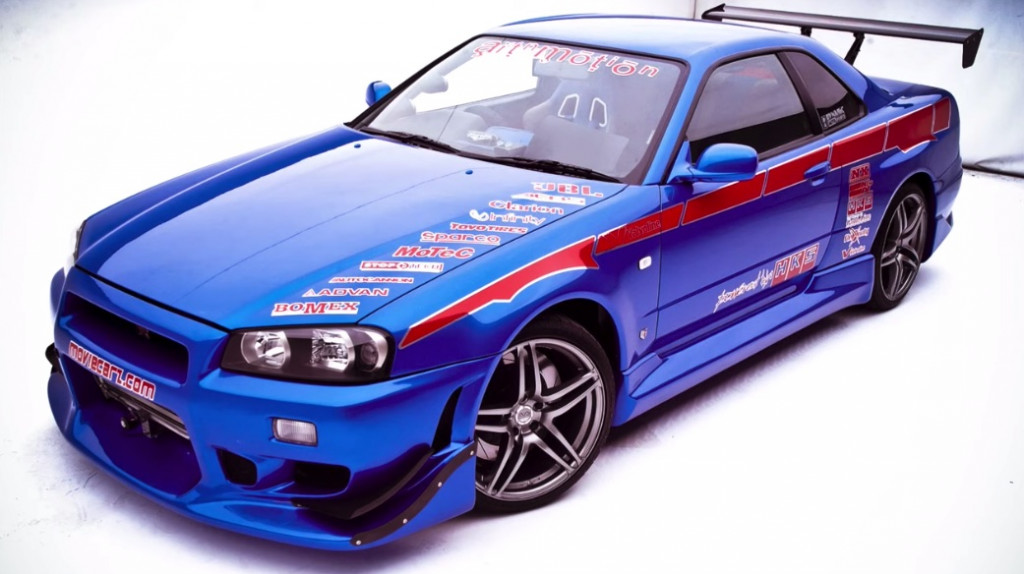 Nissan Skyline R34 GT-R used in '2 Fast 2 Furious' before movie modifications