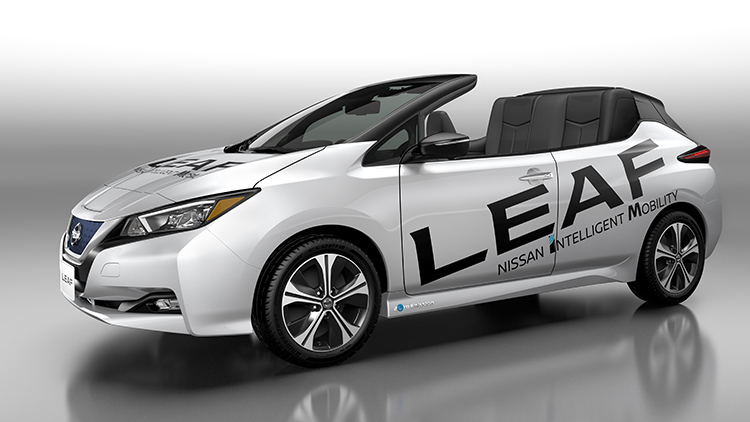 Blown away? Nissan Leaf convertible concept makes debut in Japan