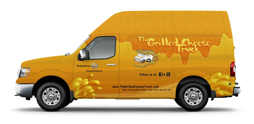 Nissan NV 'Grilled Cheese' van at the 2011 Los Angeles Auto Show