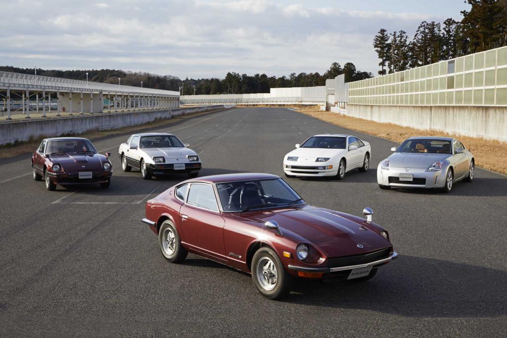 Nissan celebrates every generation of Z sports car by gathering them on one track