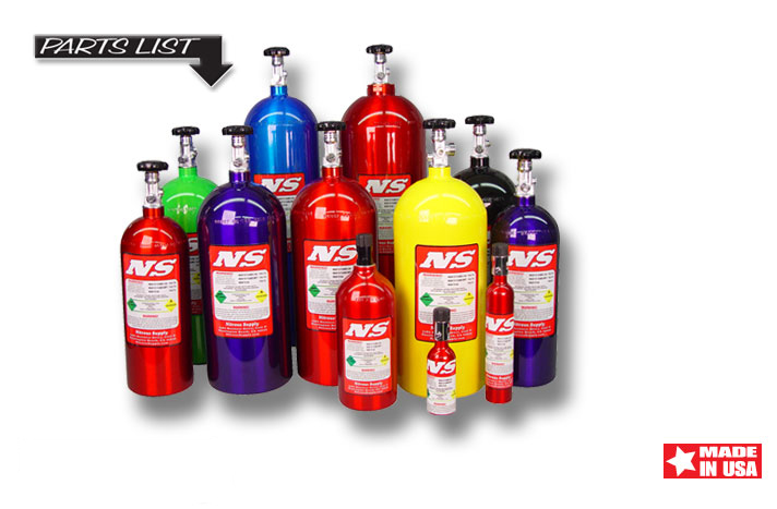 Nitrous bottles come in many shapes and sizes for many different applications