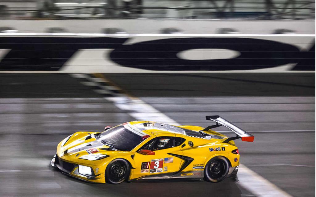 No. 3 Corvette Racing Chevrolet Corvette C8.R GTLM at the 2021 24 Hours of Daytona
