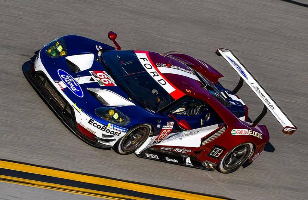 No. 66 Ford Chip Ganassi Racing GT at 2018 24 Hours of Daytona