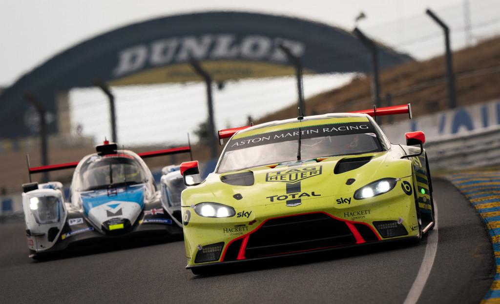 No. 97 Aston Martin Vantage GTE race car at the 2020 24 Hours of Le Mans