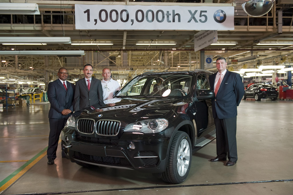 Bmw Plant Spartanburg >> BMW Builds One Millionth X5 SUV At South Carolina Plant