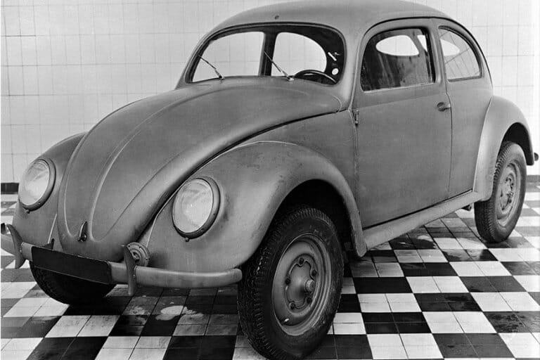 One of the first VW Beetles produced