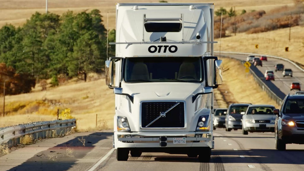 Otto self-driving truck prototype