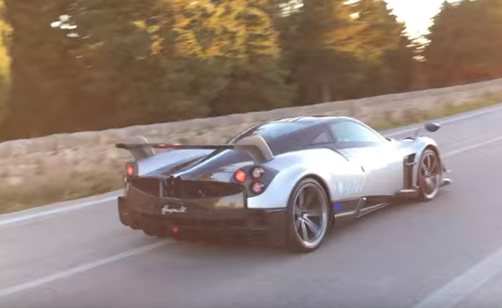 Hear the Pagani Huayra BC's engine roar