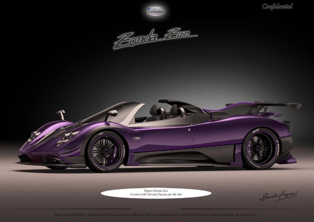 Yes, there's another new Pagani Zonda and it's purple
