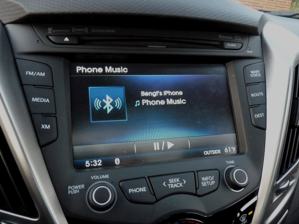 Pandora playing over Bluetooth audio  -  in 2012 Hyundai Veloster