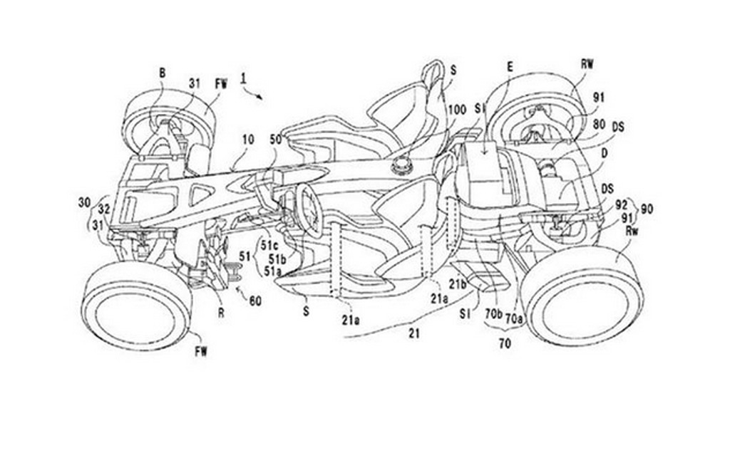 Patent drawing filed by Honda