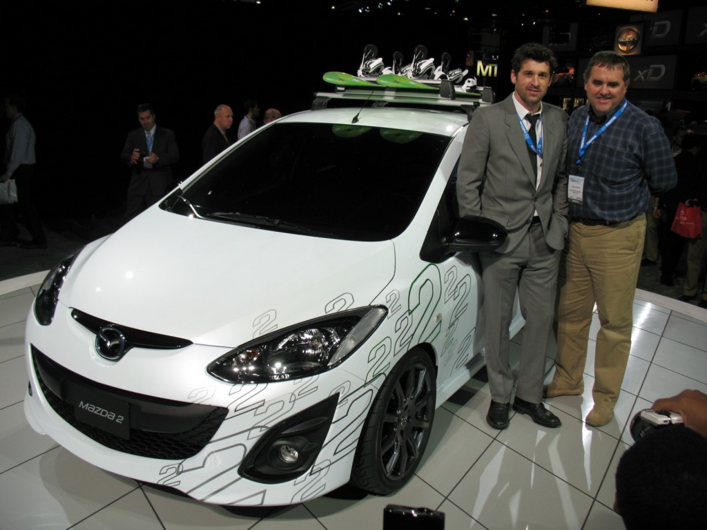 Patrick Dempsey with 2011 Mazda2