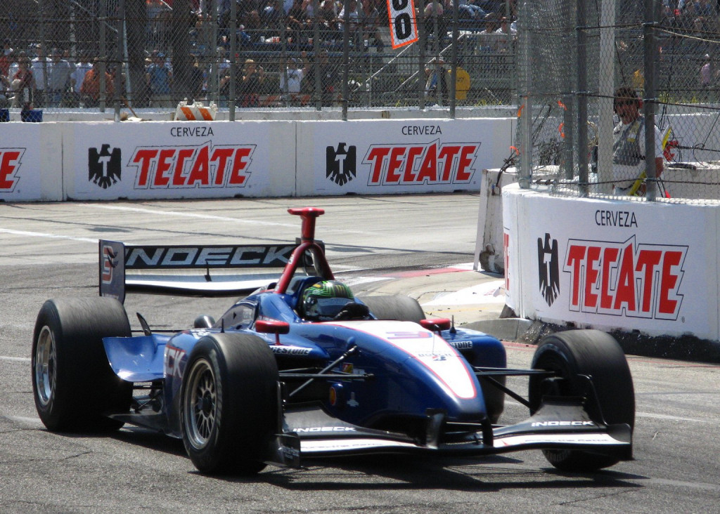 Paul Tracy races at Long Beach, California — Regular Daddy photo