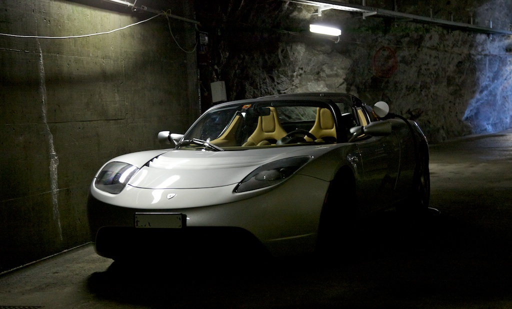 Photo contest runner-up: Tesla Roadster inside Swiss Alps hydroelectric station [Walter Gugelmann]
