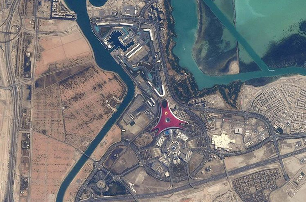 Car guy astronaut snaps famous racetracks from space