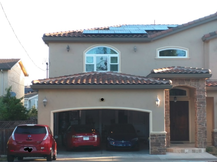 Photovoltaic solar panel installation on house, Fremont, California   [image: Shiva Singh]