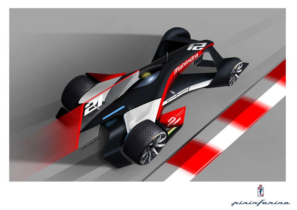 pininfarina designs formula e race car concepts for mahindra. Black Bedroom Furniture Sets. Home Design Ideas