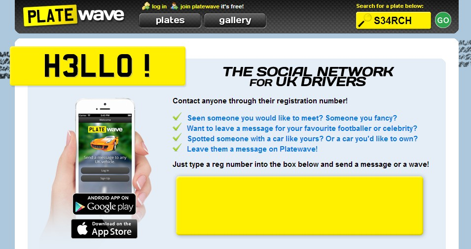 PlateWave social networking app for UK drivers
