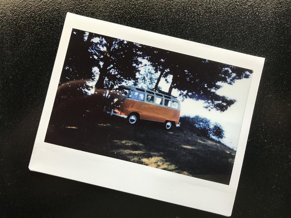 Polaroid of a 1967 VW Bus