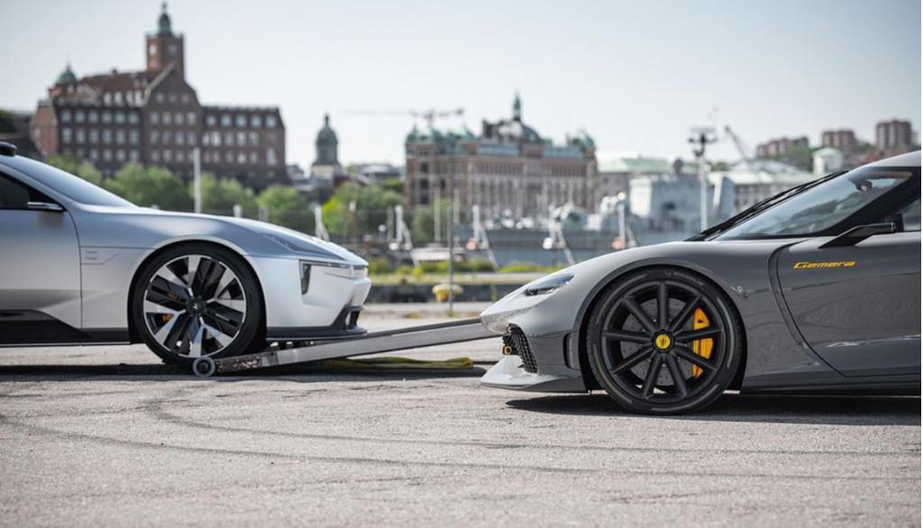 Polestar precept concept and Koenigsegg Gemera