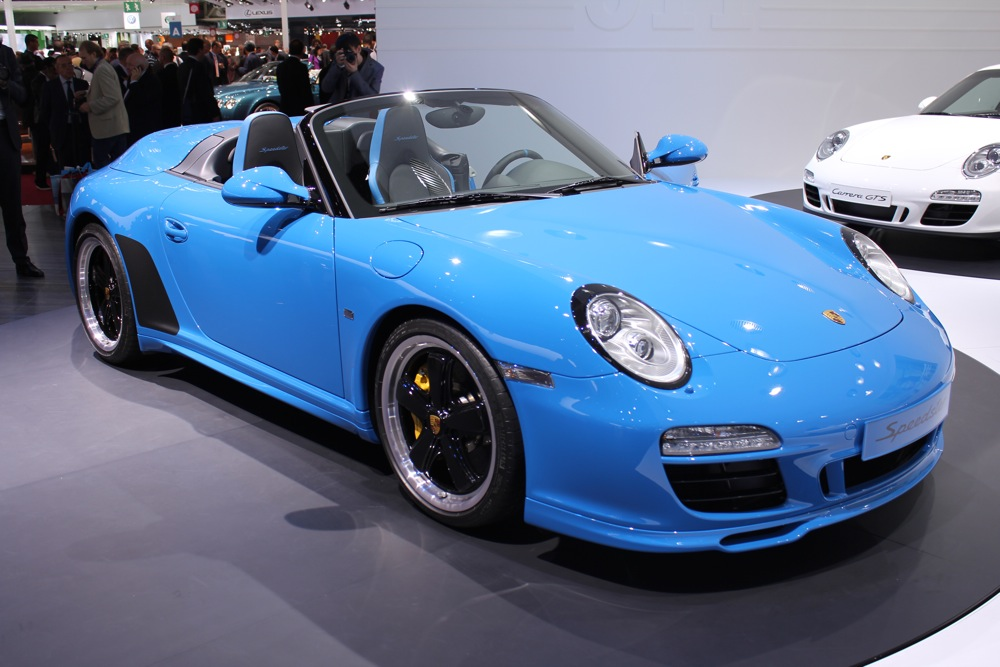2010 Paris Auto Show 2011 Porsche 911 Speedster And Gts