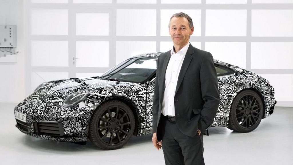 2019 Porsche 911 teaser with chief engineer August Achleitner