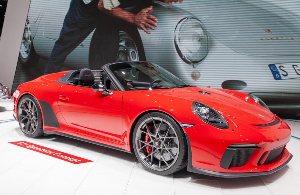 Porsche Speedster Concept, 2018 Paris auto show