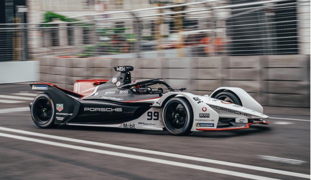 Porsche 99X Electric at the 2021 Formula E Rome E-Prix