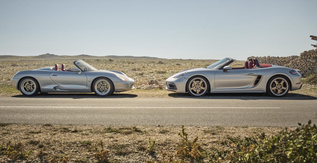 Porsche Boxster concept and 2021 Porsche 718 Boxster 25