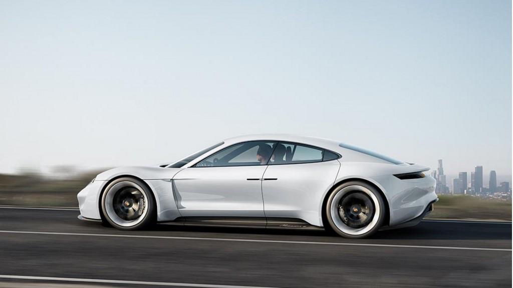 Porsche Mission E concept electric car