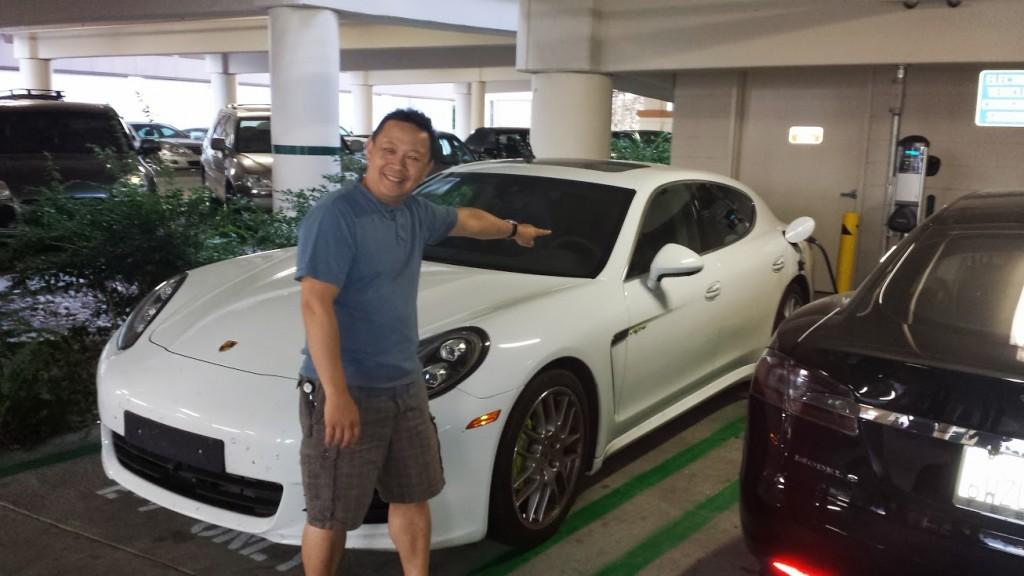 Porsche Panamera S E-Hybrid test car, Redwood City, CA, July 2013 [photo courtesy of Darrell Joe]