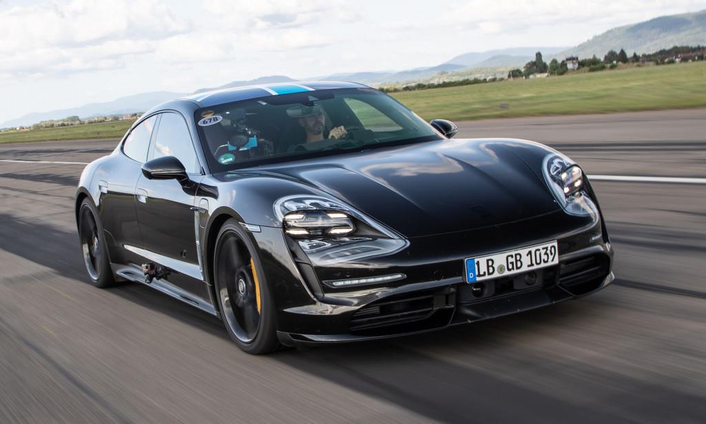 Porsche Taycan acceleration test