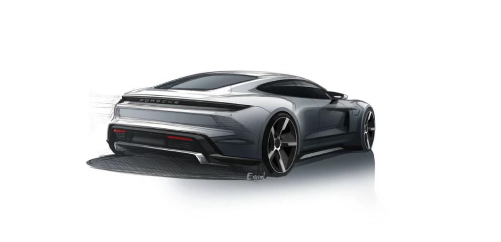 Porsche Taycan sketch