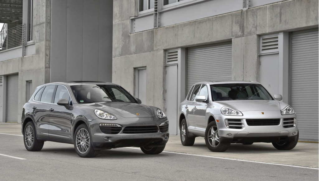 2011 Porsche Cayenne (left) and 2010 Porsche Cayenne S (right)