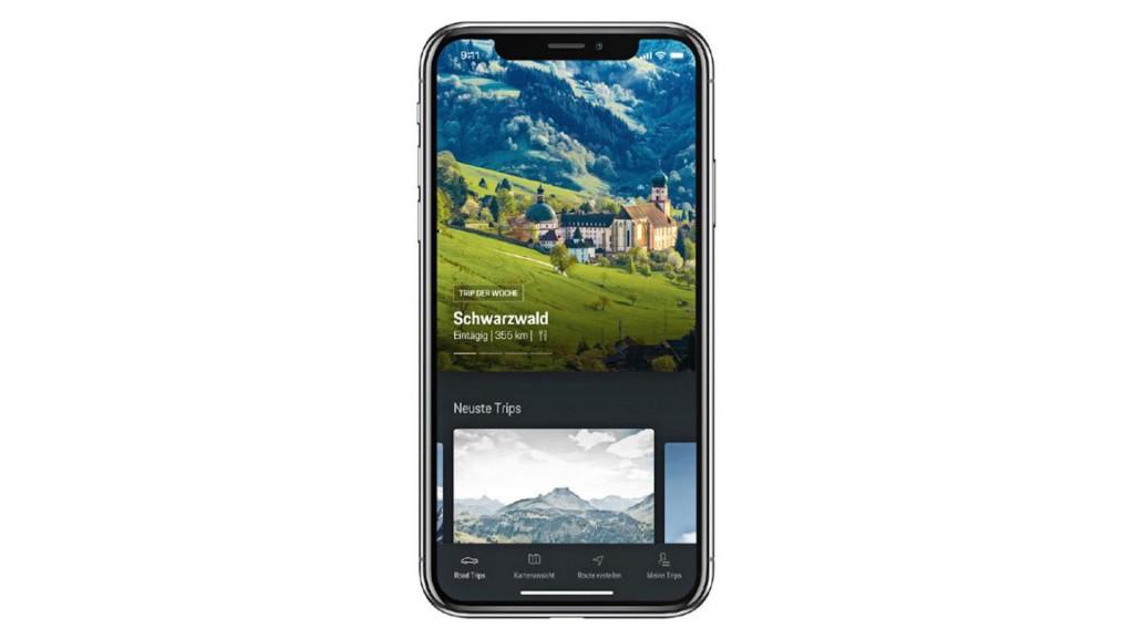 Porsche Road Trip app for iOS