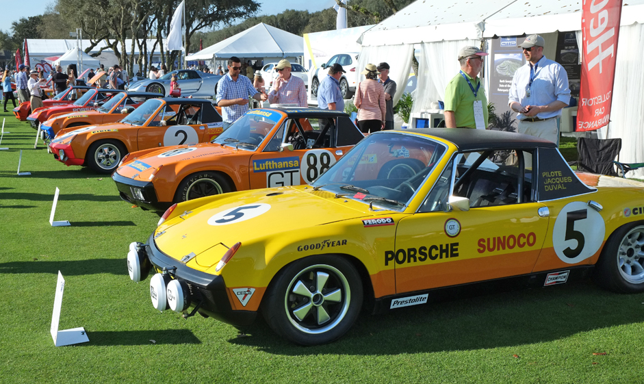 Part of the display of 914s at the Amelia Island Concours in 2015 | Andy Reid