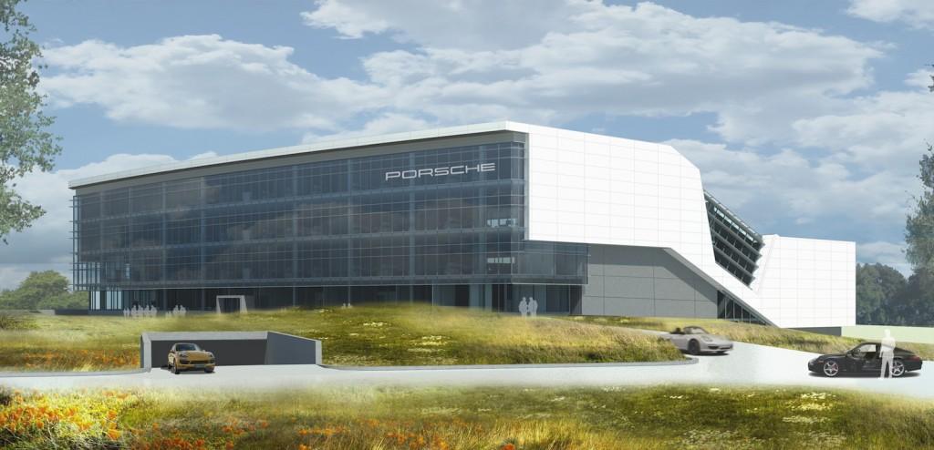 Porsche's rendering of its new American headquarters