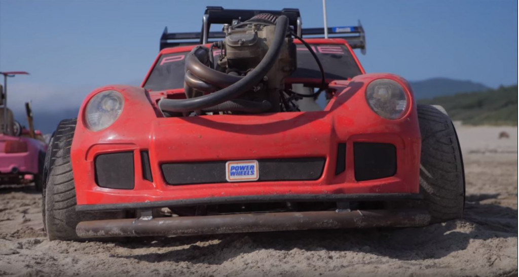 The most insane Power Wheels Porsche 911 GT3 is powered by a motorcycle engine