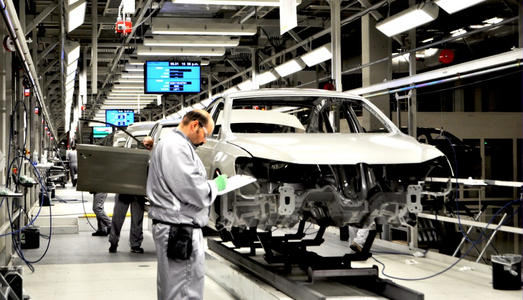 Production at a Volkswagen plant