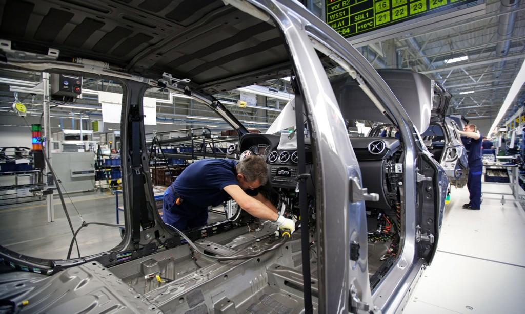 Production line at Mercedes-Benz plant