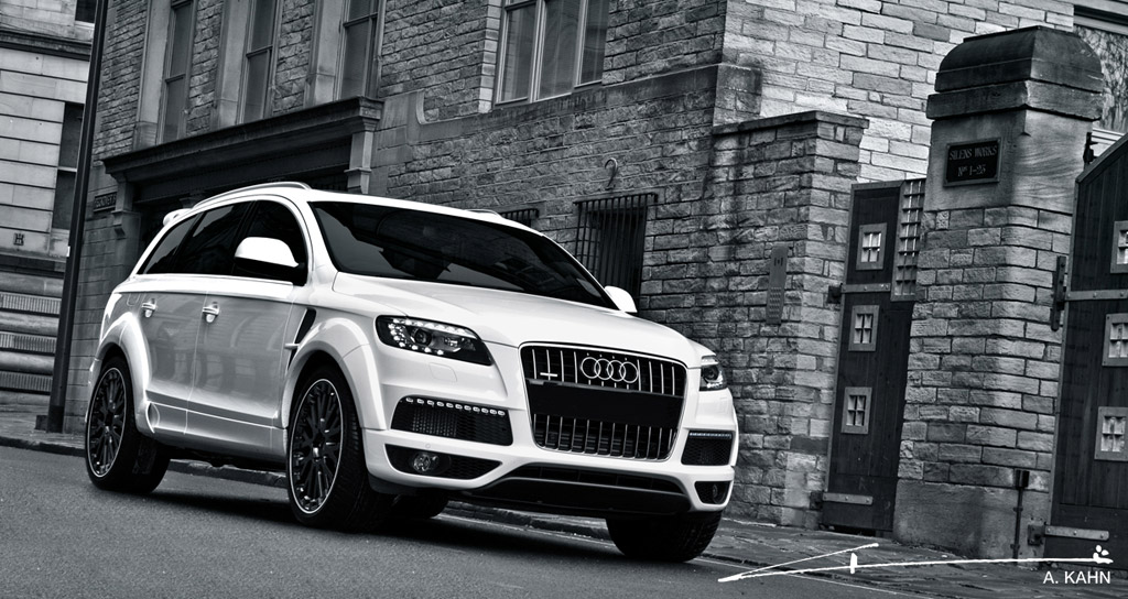 image project kahn black white audi q7 size 1024 x 544 type gif posted on july 15 2011. Black Bedroom Furniture Sets. Home Design Ideas
