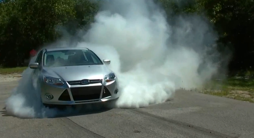 Cheap Car Tires >> Why Yes, The Ford Focus Can Do A Two Minute Burnout: Video