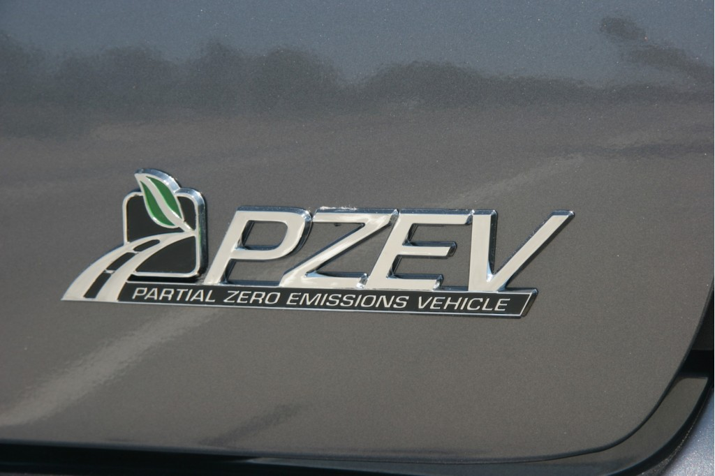 PZEV badge on Ford Focus