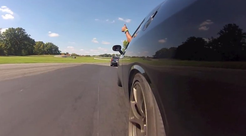 Ralph Gilles Runs Down CTS-V On Track With Challenger SRT Hellcat: Video