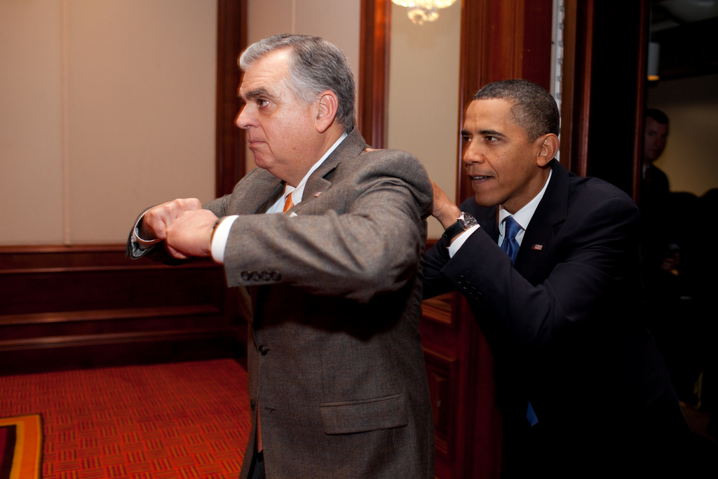 Ray LaHood and President Barack Obama