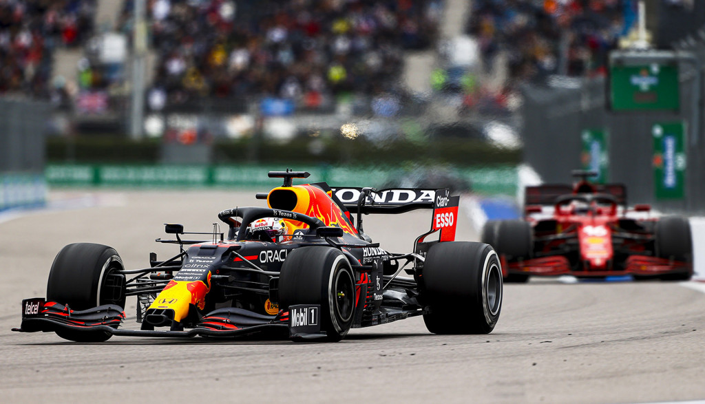 Red Bull Racing's Max Verstappen at the 2021 Formula One Russian Grand Prix