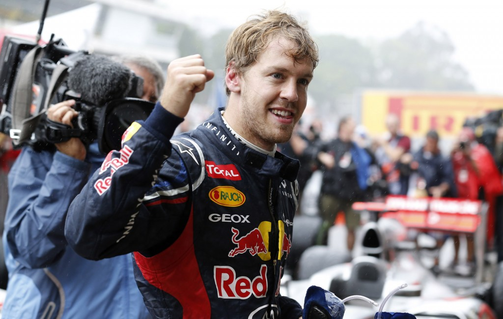 Red Bull Racing's Sebastian Vettel scores his third F1 World Championship in a row in Brazil